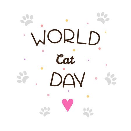 World Cat Day. Vector illustration