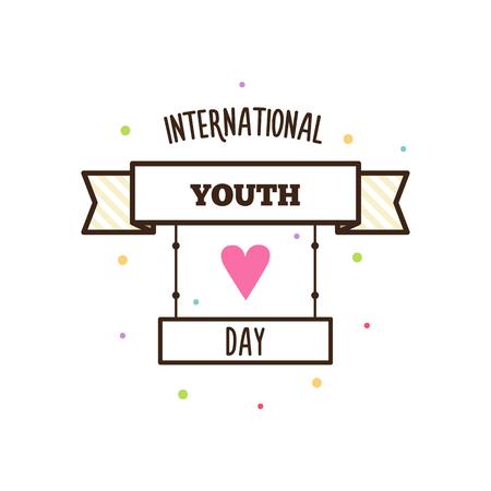 Día de la juventud. Ilustración del vector. Foto de archivo - 81959345