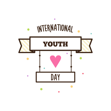 Youth day. Vector illustration. Illustration