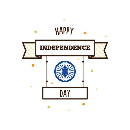 Happy Independence Day. Vector illustration.