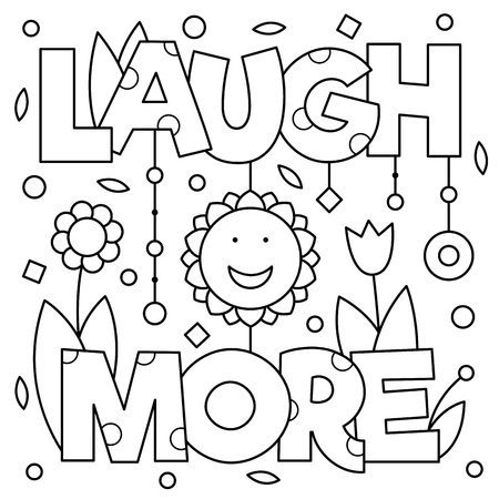 Laugh more coloring page vector illustration vector