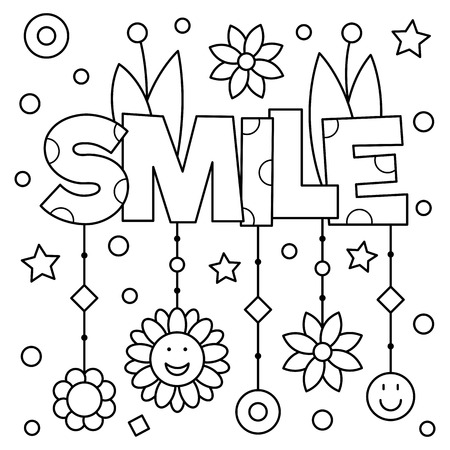 Coloring page vector illustration vector
