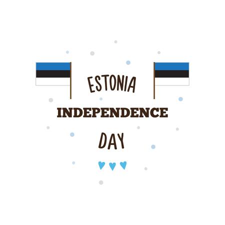 에스토니아 독립 기념일. 벡터 일러스트 레이 션. 일러스트