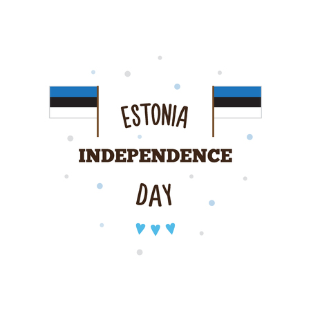 Estonia Independence Day. Vector illustration.