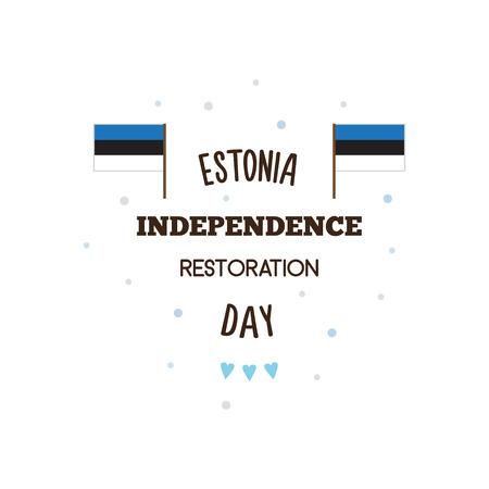 Glückliche Unabhängigkeit Wiederherstellung Tag. Vektor-Illustration. Standard-Bild - 82904024