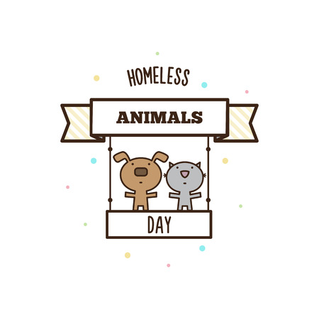 Homeless animals day. Vector illustration