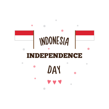 Indonesia Independence Day. Vector illustration.