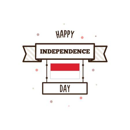 インドネシア独立記念日。ベクトルの図。 写真素材