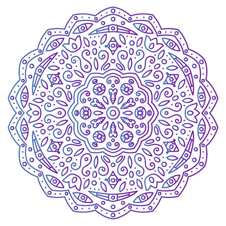 Abstract ornament. Mandala. Vector illustration of beautiful ornament Banco de Imagens