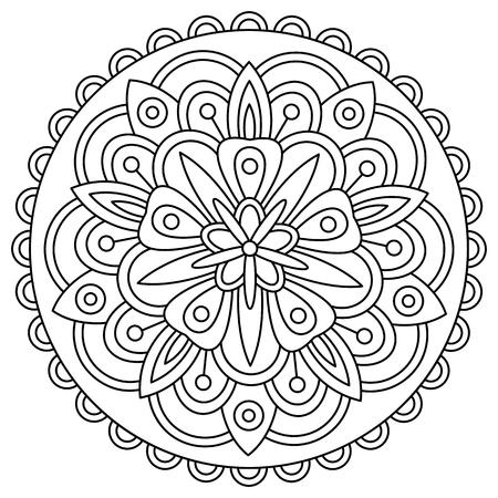 マンダラ。ページを着色。ベクトルの図。