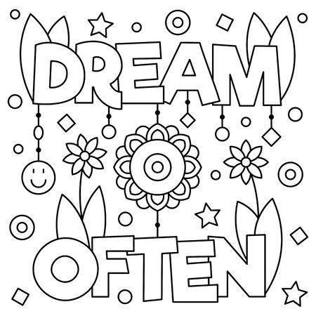 よく夢を見る。ページを着色。ベクトルの図。  イラスト・ベクター素材