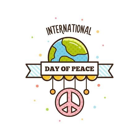 International Peace Day. Vector illustration.