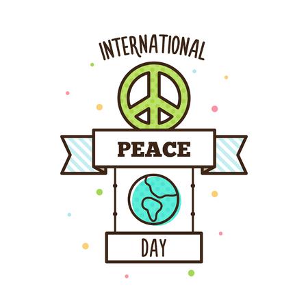 International Peace Day. Vector illustration. Pacific symbol