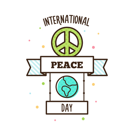 International Peace Day. Vector illustration. Pacific symbol