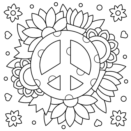 Pacific. Coloring page. Vector illustration.
