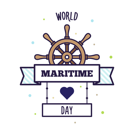 World Maritime Day vector illustration. 向量圖像