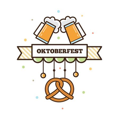 Beer festival. 向量圖像