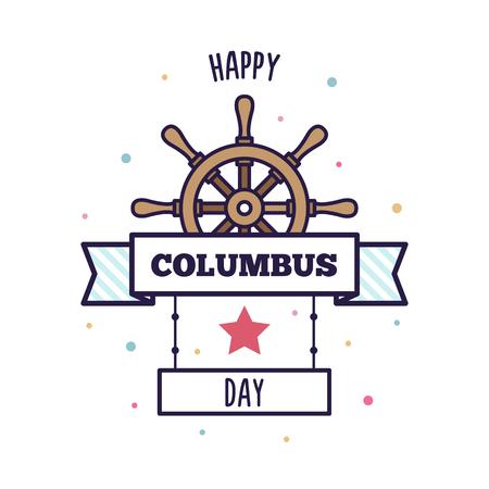 Happy Columbus Day. Vector illustration. Vector Illustration