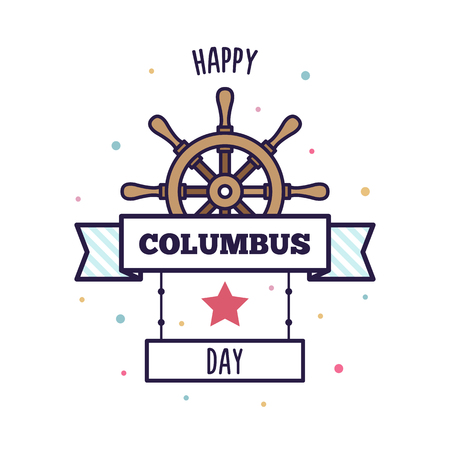 Happy Columbus Day. Vector illustration.