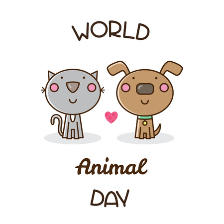 World Animal Day. Vector illustration. Иллюстрация