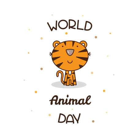 World Animal Day. Vector illustration. Illustration