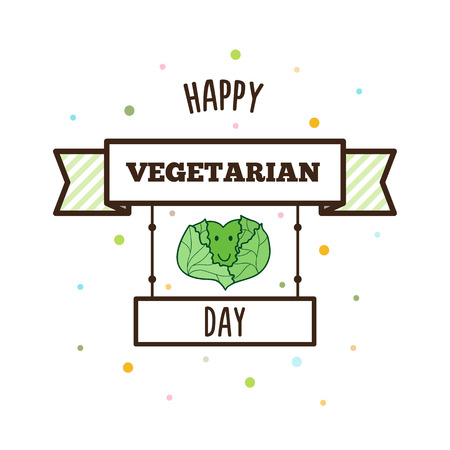 Happy Vegetarian Day. Vector illustration.