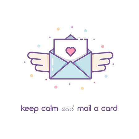 Mail icon. vector illustration. Stock Photo