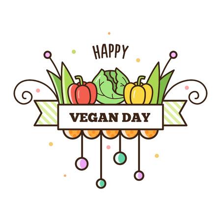 Happy Vegan Day Illustration