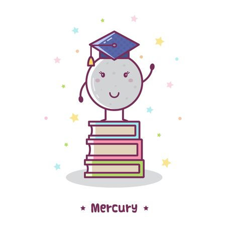 Mercury. Vector illustration.