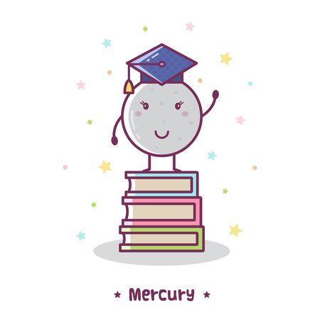Mercury. Vector illustration. 版權商用圖片 - 87958049