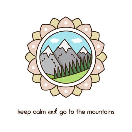 山。ベクトルの図。