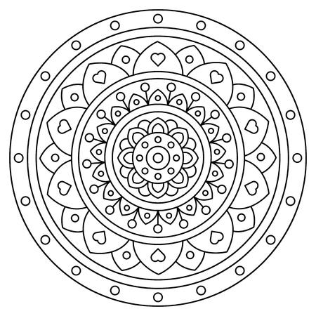 Mandala. Coloring page. Vector illustration. Stock fotó