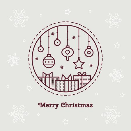 メリークリスマス。ベクトルの図。