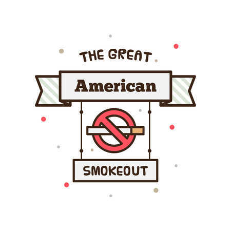 The Great American Smokeout. Vector illustration.