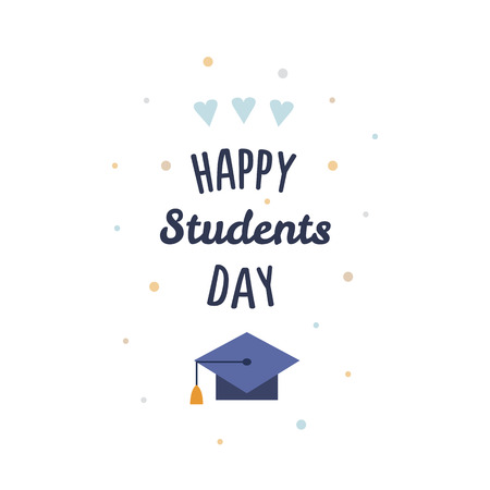 International Students Day on white background, vector illustration.