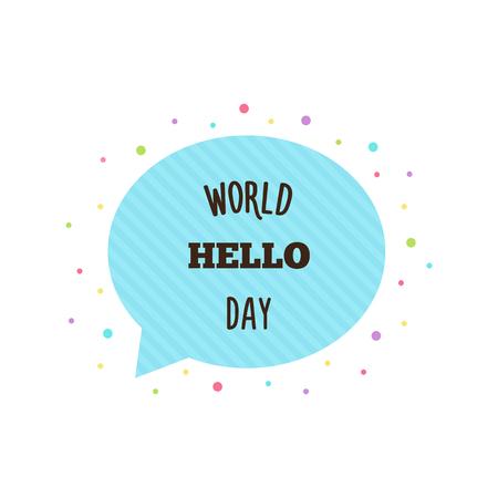 World Hello Day on white background, vector illustration. Illusztráció