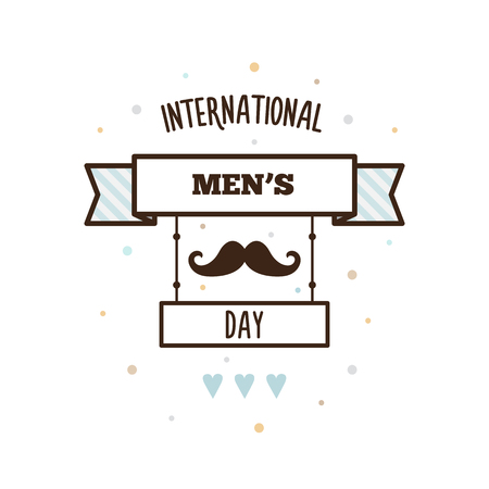 International Mens Day. on white background, vector illustration.