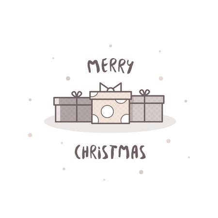 Merry Christmas. Card. Illustration.
