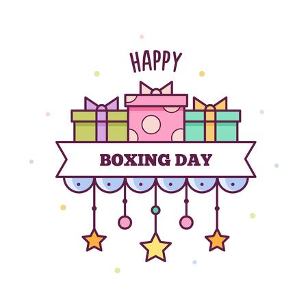 幸せなボクシングの日。ベクトルの図。