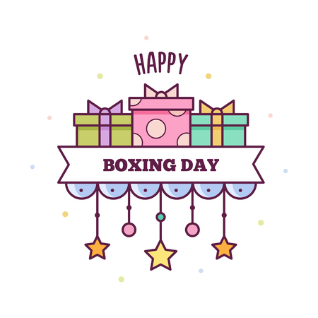 Happy Boxing Day. Vector illustration.