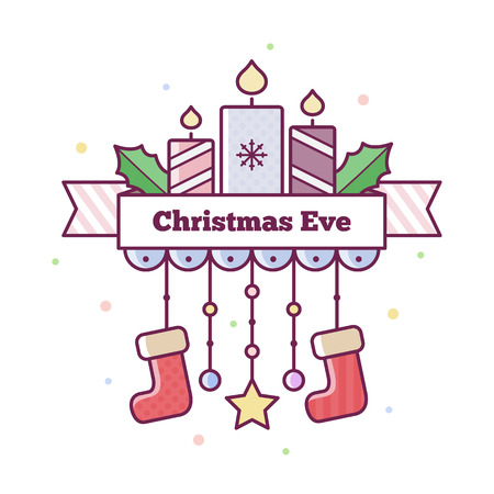 Christmas Eve. Vector illustration.