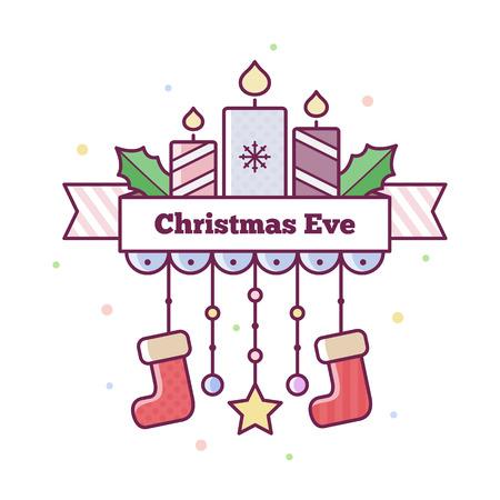Christmas Eve. Vector illustration.