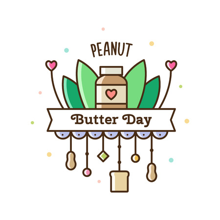 Peanut butter day. Vector Illustration.