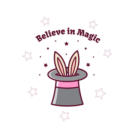 Magical hat. Vector illustration.