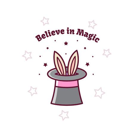 Magical hat. Vector illustration.