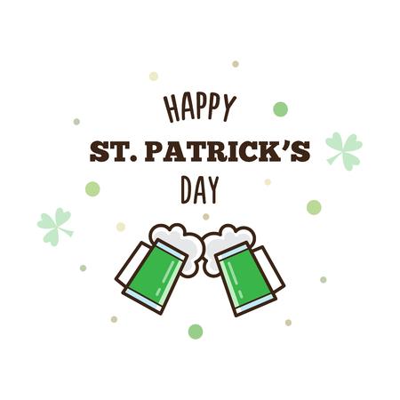 Happy St. Patricks Day. Vector illustration. Banco de Imagens - 94673106
