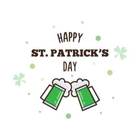 Happy St. Patricks Day. Vector illustration.