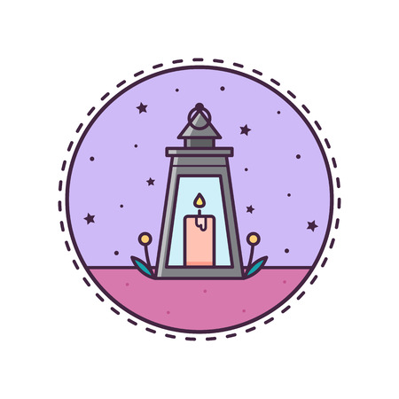 Lantern. Vector illustration. Illustration