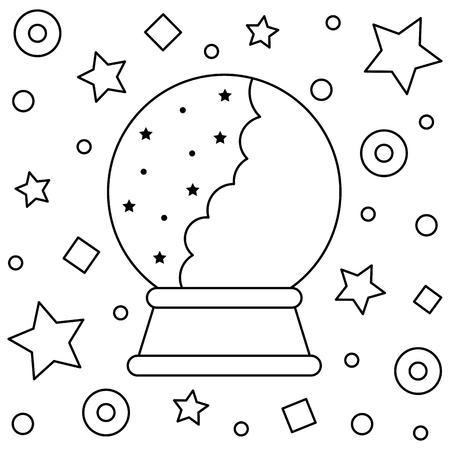 Crystal ball. Vector illustration. Illustration