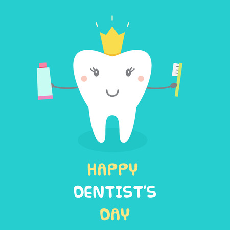 Happy Dentists Day. Vector illustration.